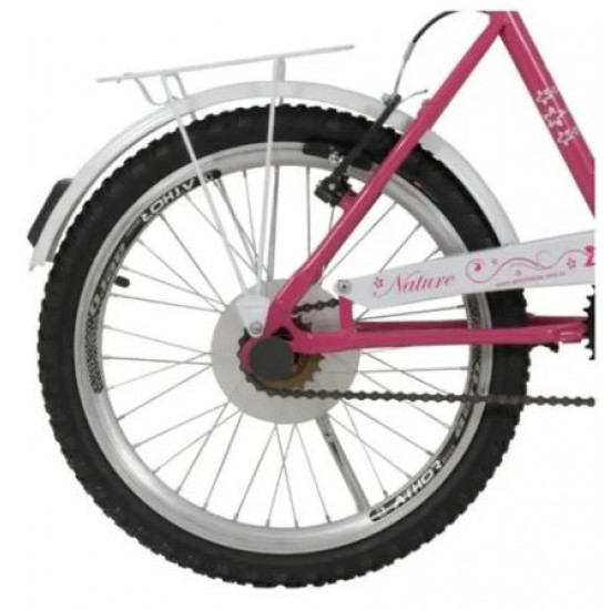 Bicicleta Feminina Athor Nature Aro 20 C/ Cesto