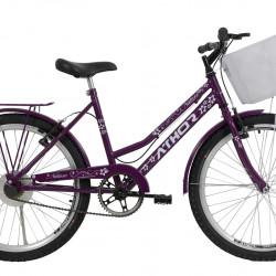 Bicicleta Athor Nature Aro 24 C/ Cesto